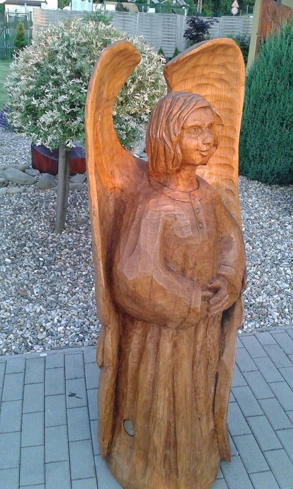Čestmír slíva řezbář dřevořezba zahradní artefakty dřevěné